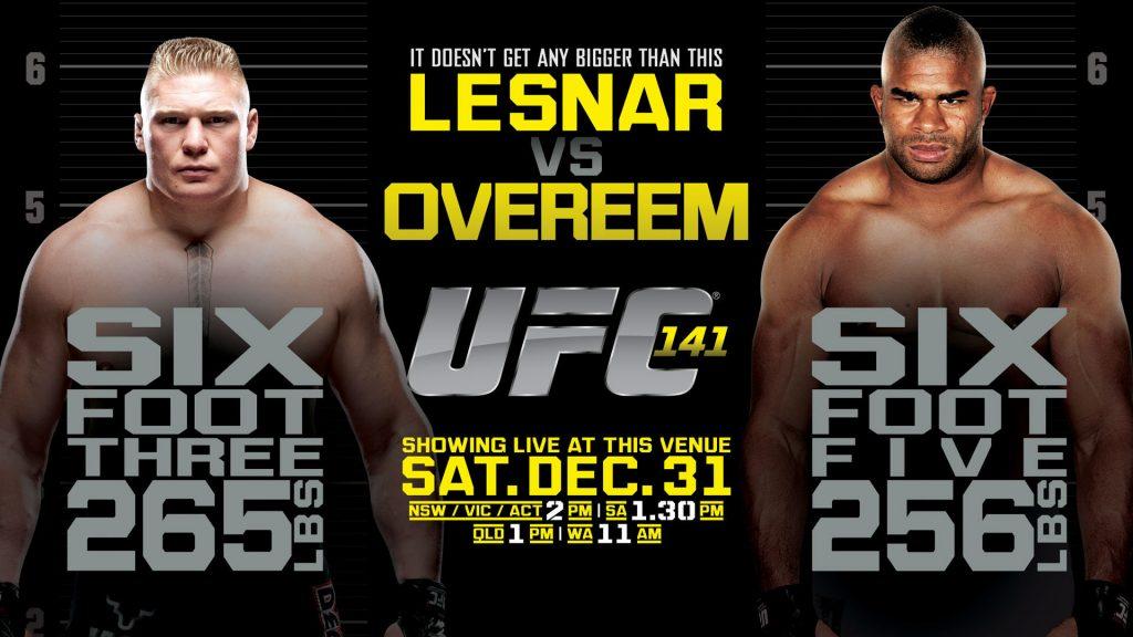 Lesnar vs Overeem