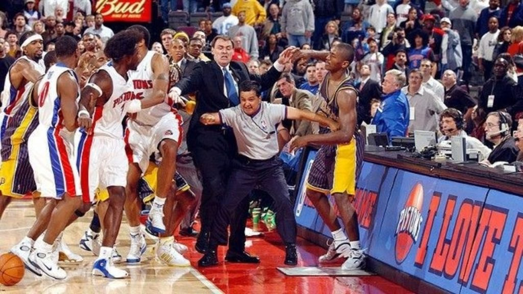 Detroit Pistons Indiana Pacers The Brawl 2004