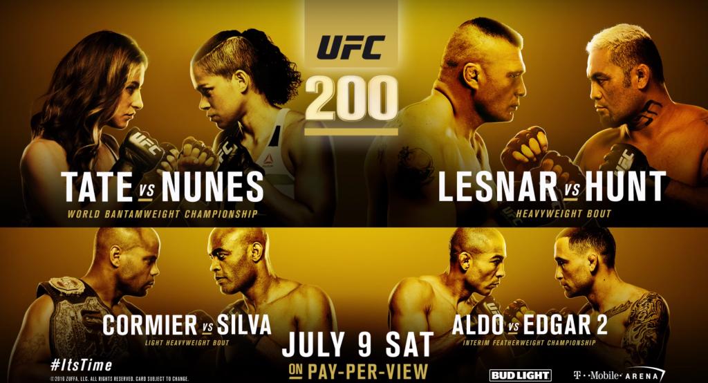 UFC 200 poster