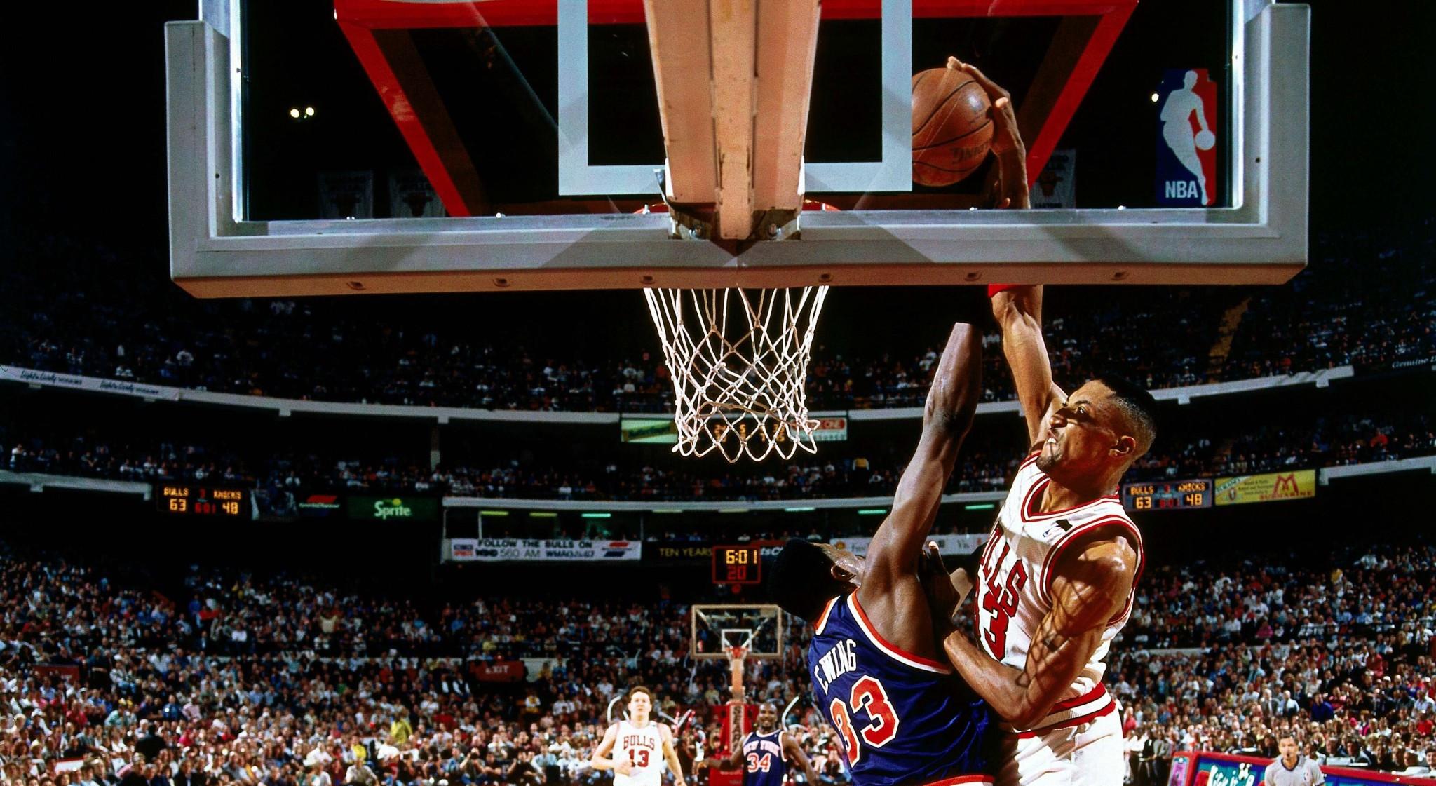 Quand Scottie Pippen posait un dunk monstrueux sur Patrick Ewing