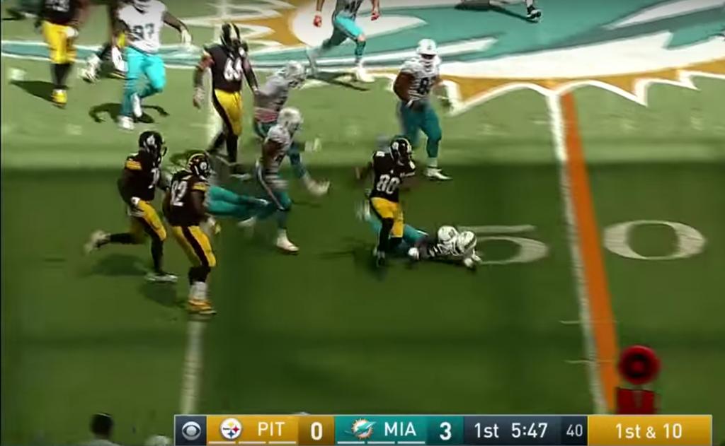 Darrius Heyward-Bey piétine la défense des Dolphins pour un énorme TD de 60 yards