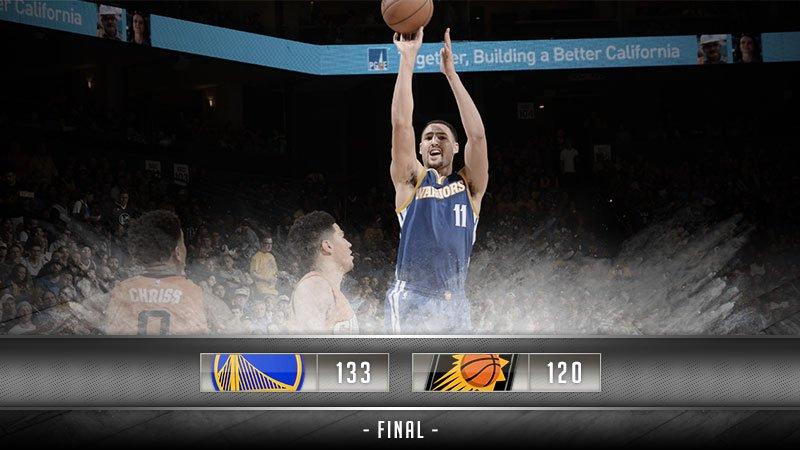 Avec un grand Big Four, les Warriors gagnent face aux Suns