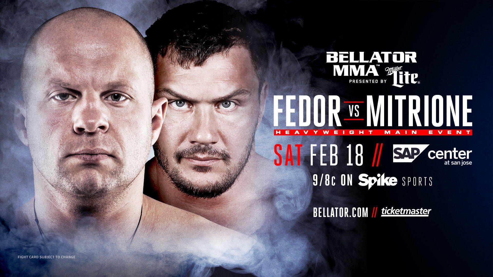 Fedor Emelianenko affrontera Matt Mitrione lors du Bellator 172