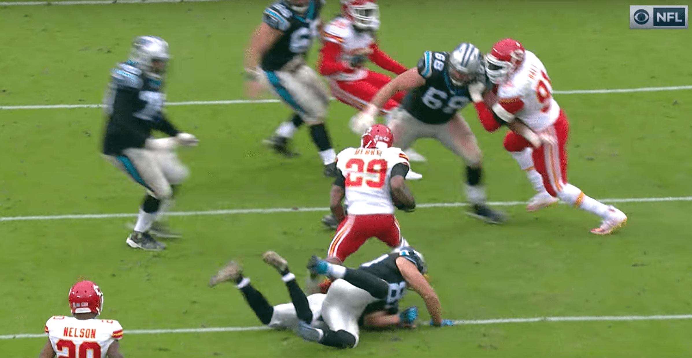 L'énorme interception de Berry qui a enterré les Panthers