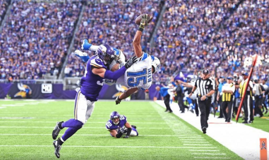 Le touchdown complètement fou en overtime de Tate contre les Vikings