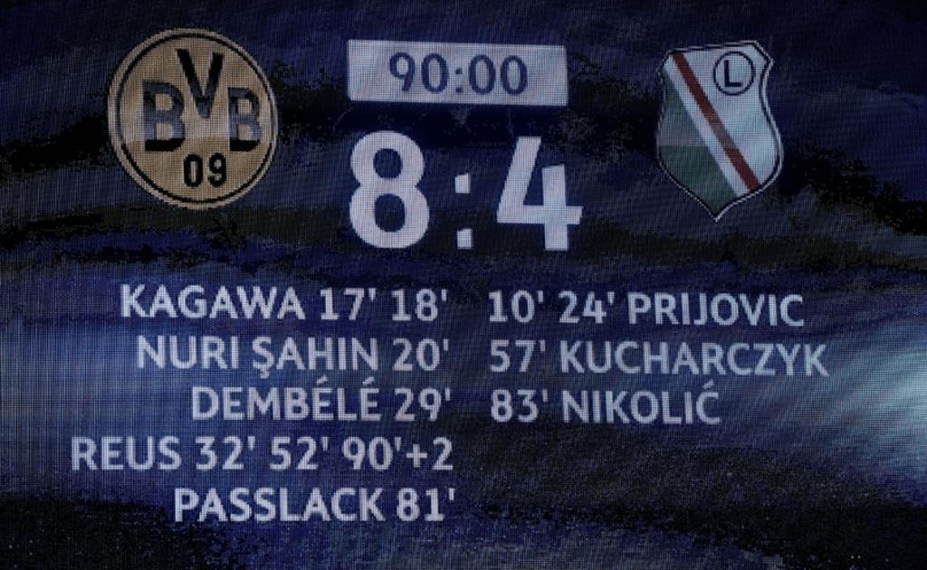 Les chiffres incroyables du match entre Dortmund et Varsovie