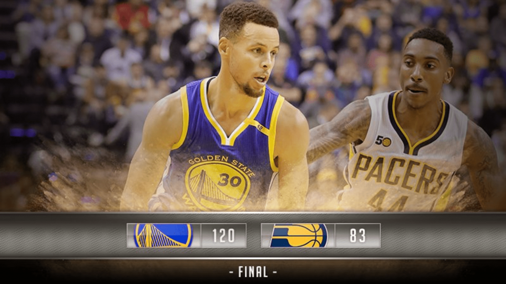 Live from Indiana: Les Warriors atomisent les Pacers