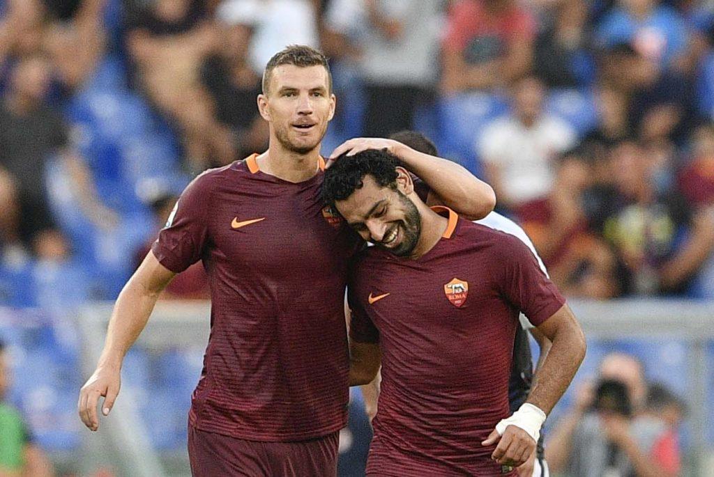 Mohamed Salah et Edin Dzeko, le meilleur duo d'attaque d'Europe