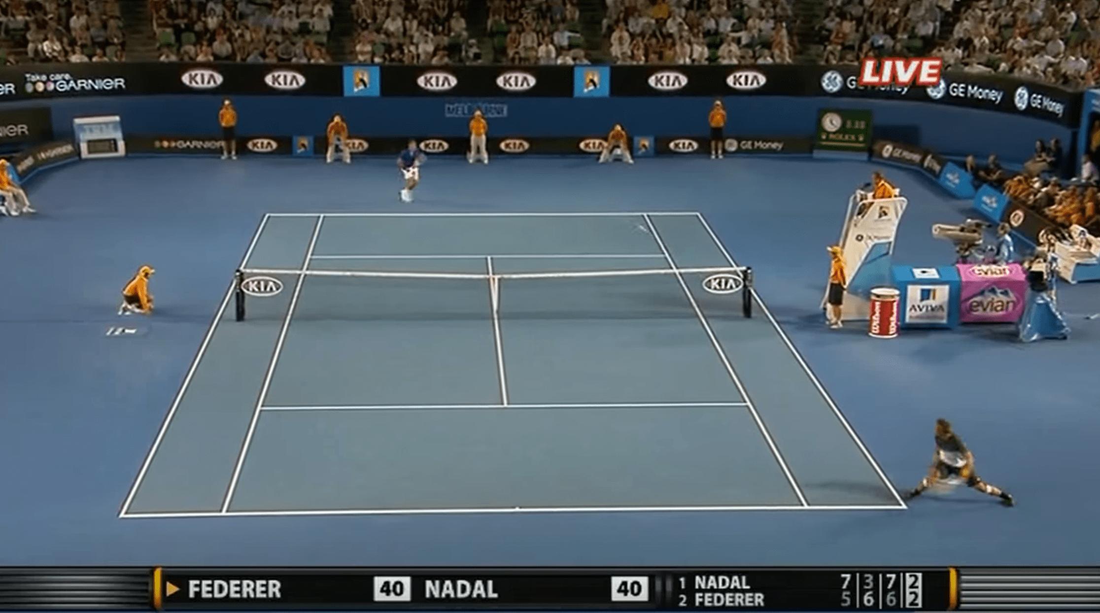 Open d'Australie 2009 – l'immense échange entre Federer et Nadal