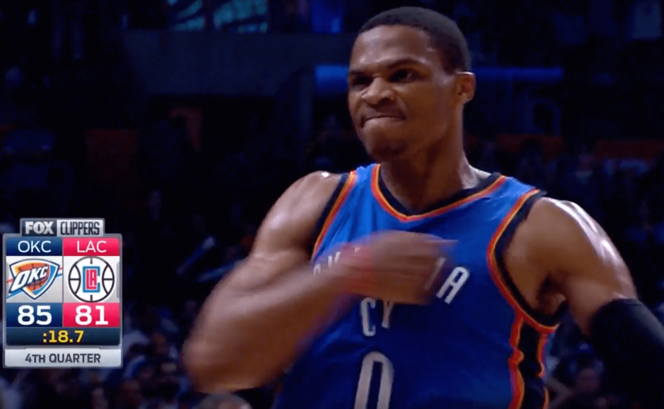 Russell Westbrook tape le game-winner contre les Clippers