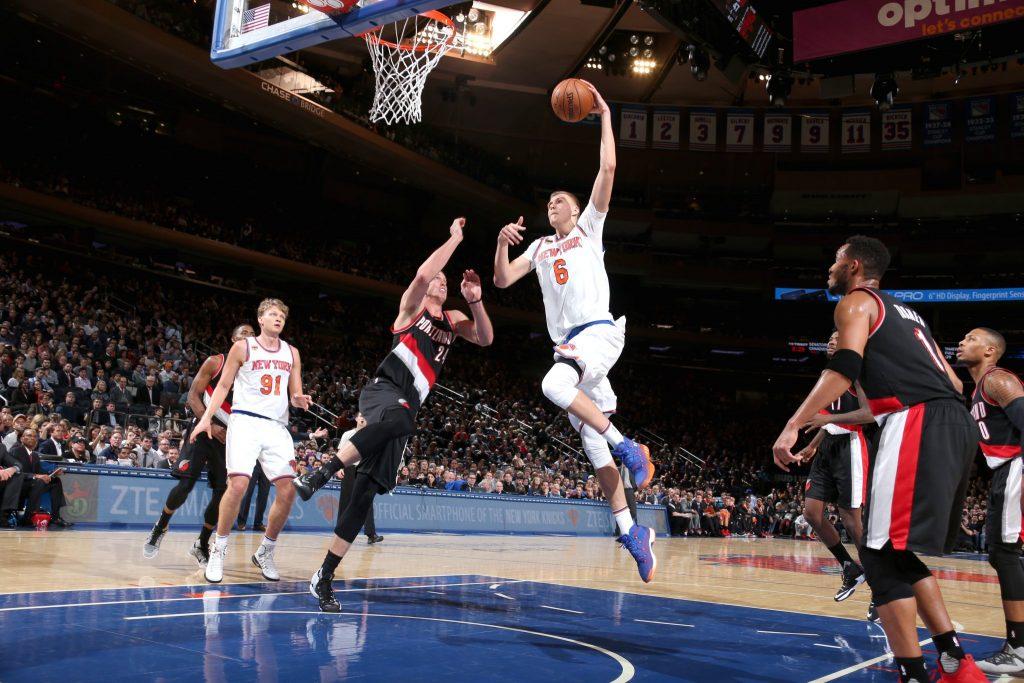 Un Porzingis royal et un D-Rose clutch, les Knicks s'offrent les Blazers