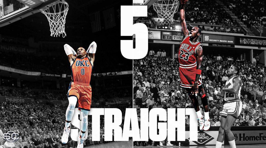 5e Triple Double de suite pour Westbrook et la victoire