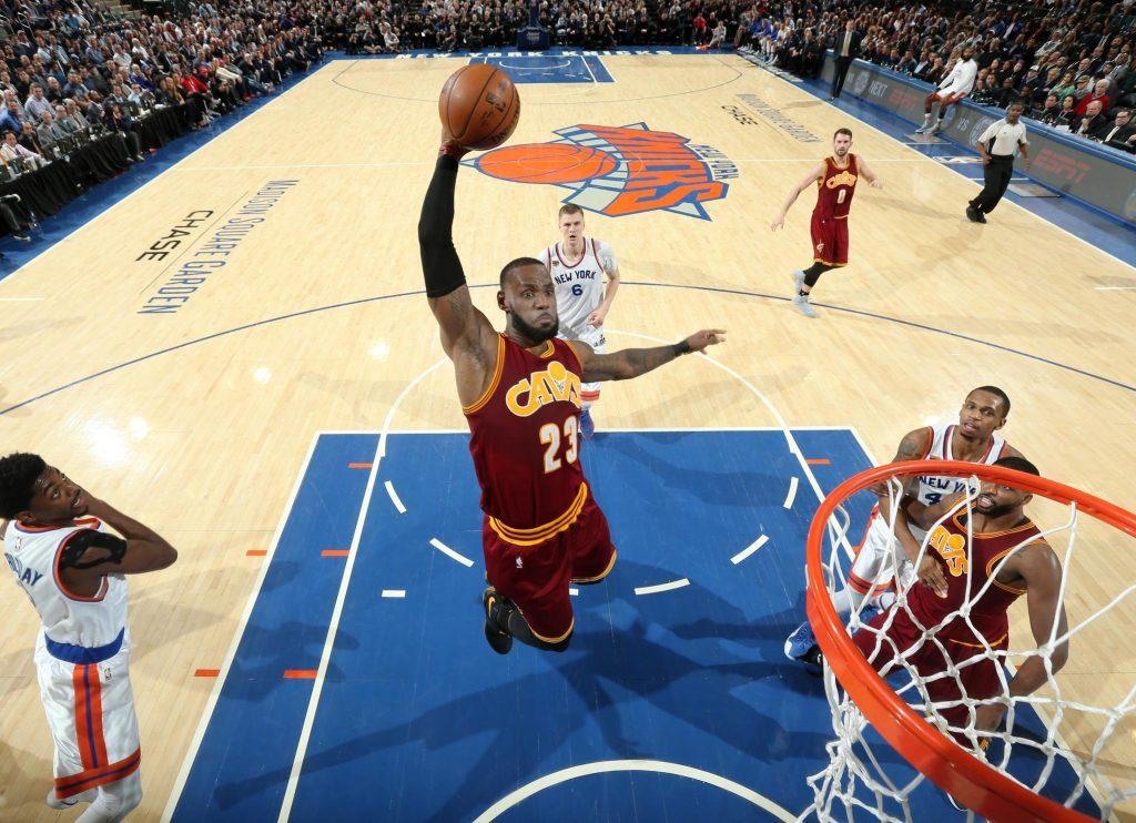 Cleveland et LeBron James explosent les Knicks au MSG