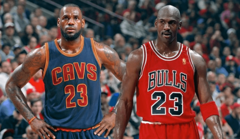Michael Jordan vs. LeBron James 32 ans