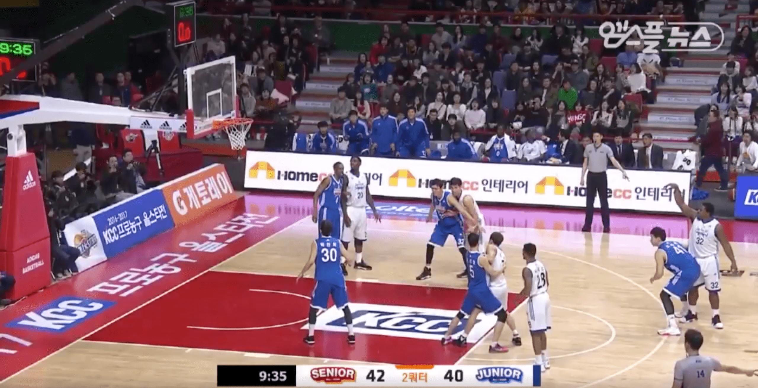 En plein milieu du All-Star Game Coréen, les joueurs font un Mannequin Challenge
