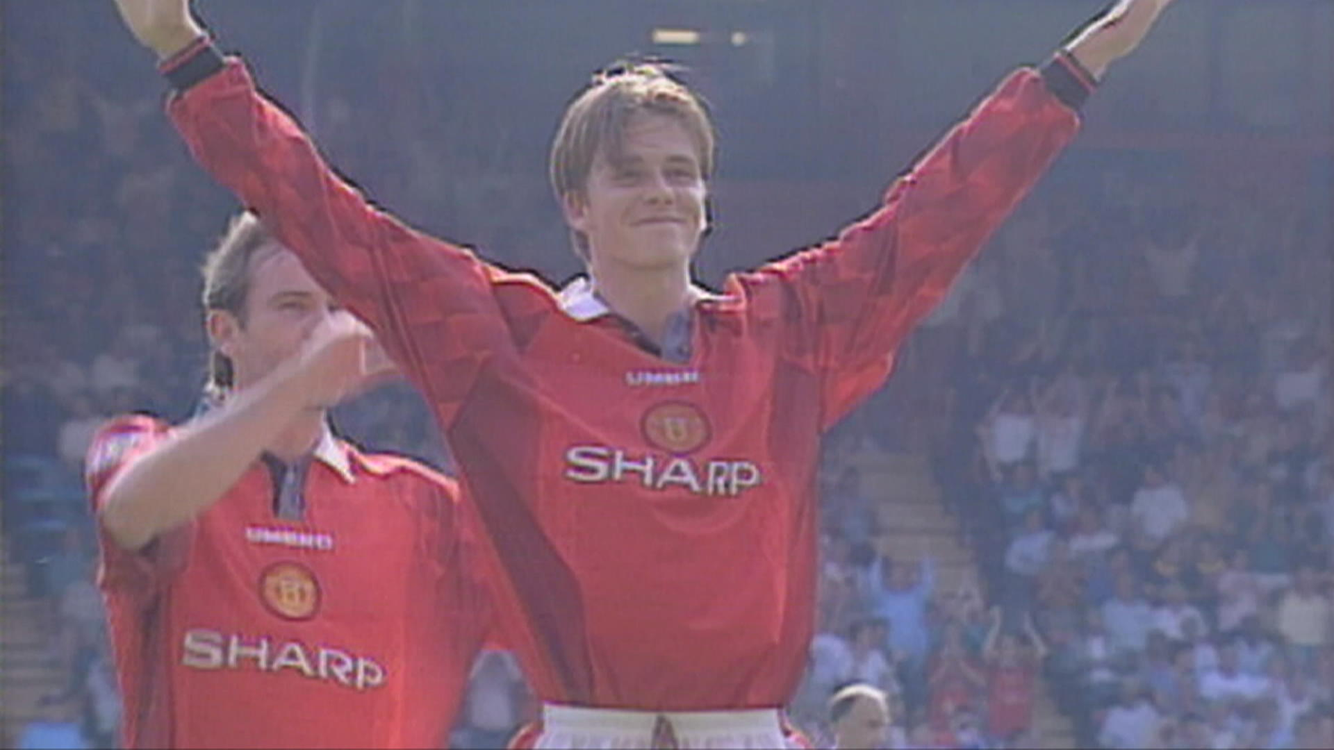 David Beckham et son but du milieu de terrain contre Wimbledon