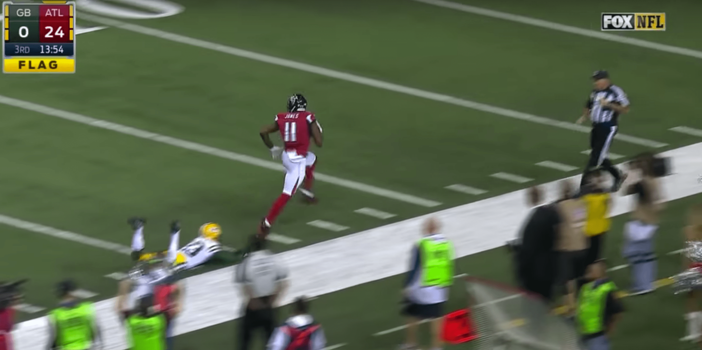 Julio Jones et les Falcons ont démonté les Packers