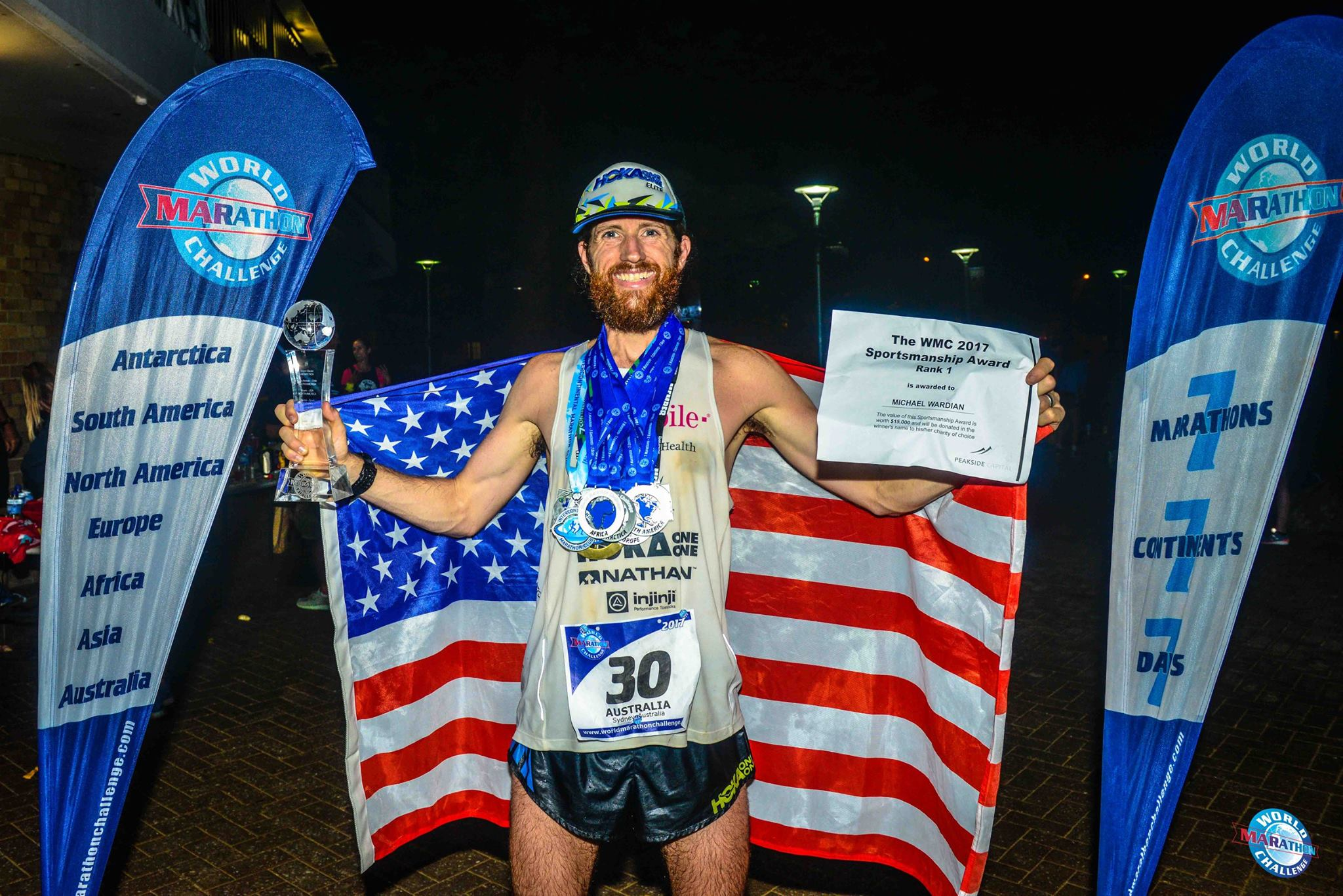 Michael Wardian bat le record du World Marathon Challenge