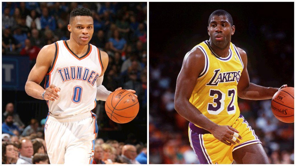 Russell Westbrook efface Magic Johnson des tablettes