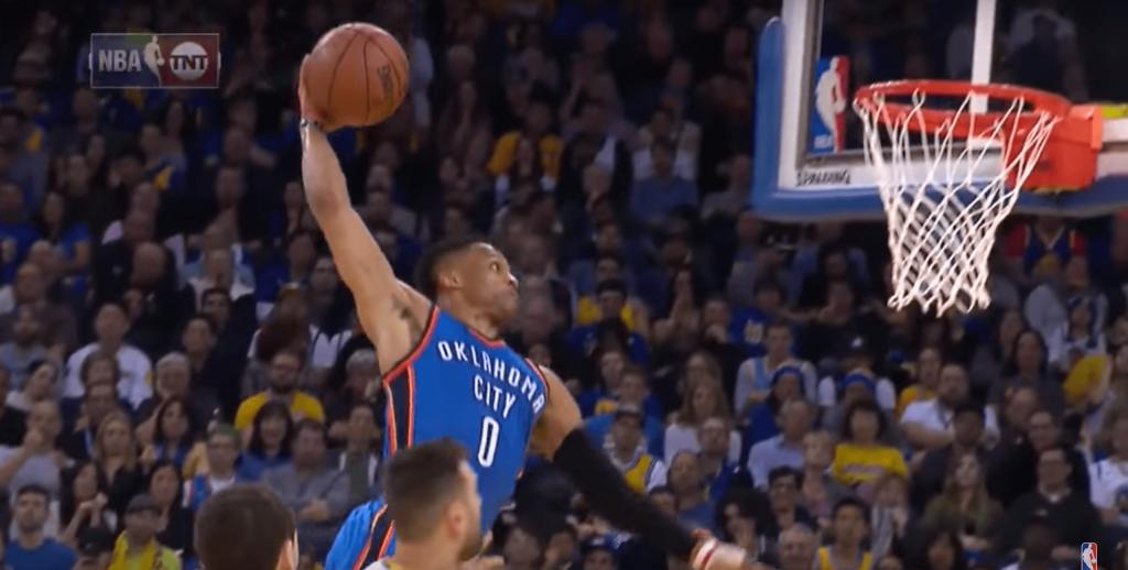 La NBA sort le top 10 de l'année NRV de Russell Westbrook