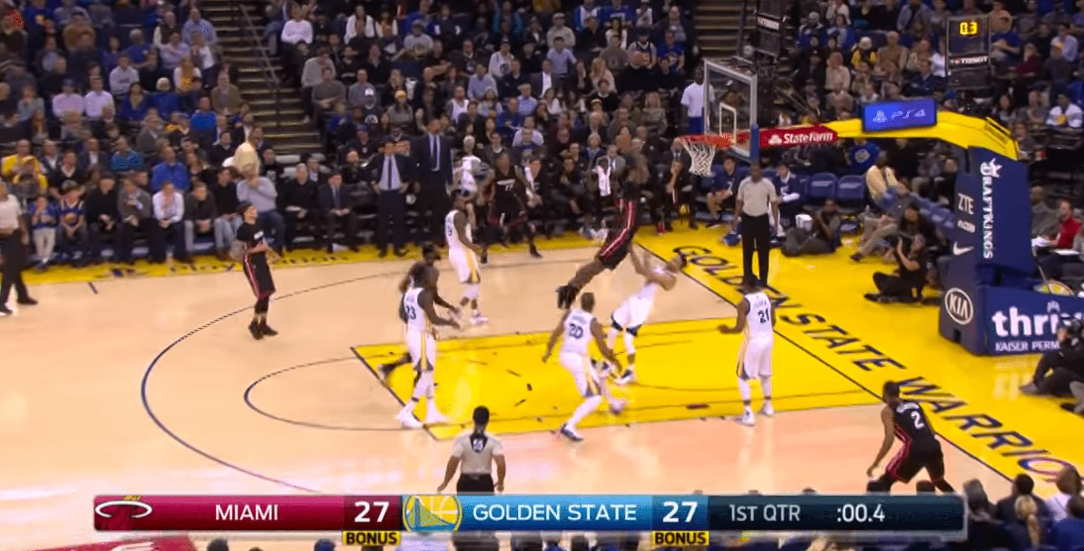 Warriors vs. Heat - Stephen Curry se fait souiller par James Johnson