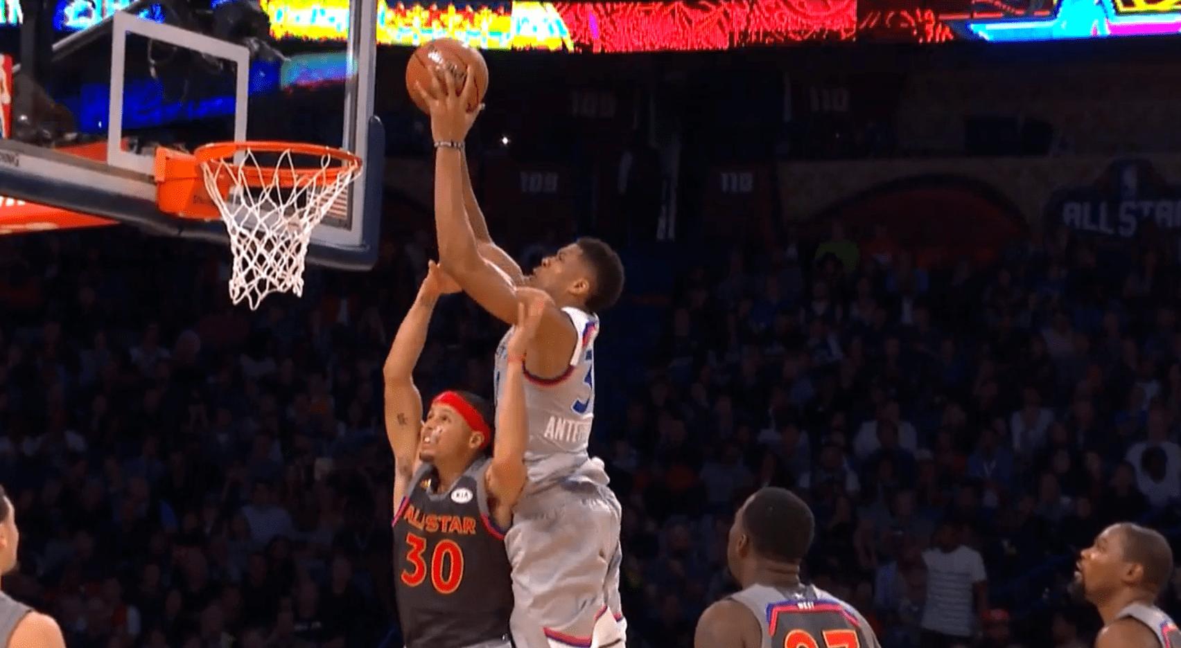 All-Star Game - Giannis Antetokounmpo a écrasé Stephen Curry