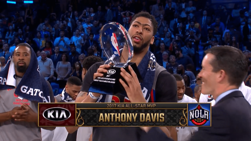 Anthony Davis explose le record de points de Chamberlain en un All-Star Game