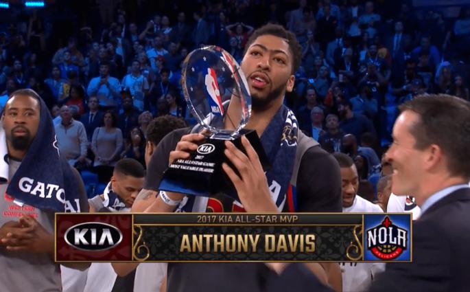 Anthony Davis explose le record de points de Chamberlain en un All-Star Game