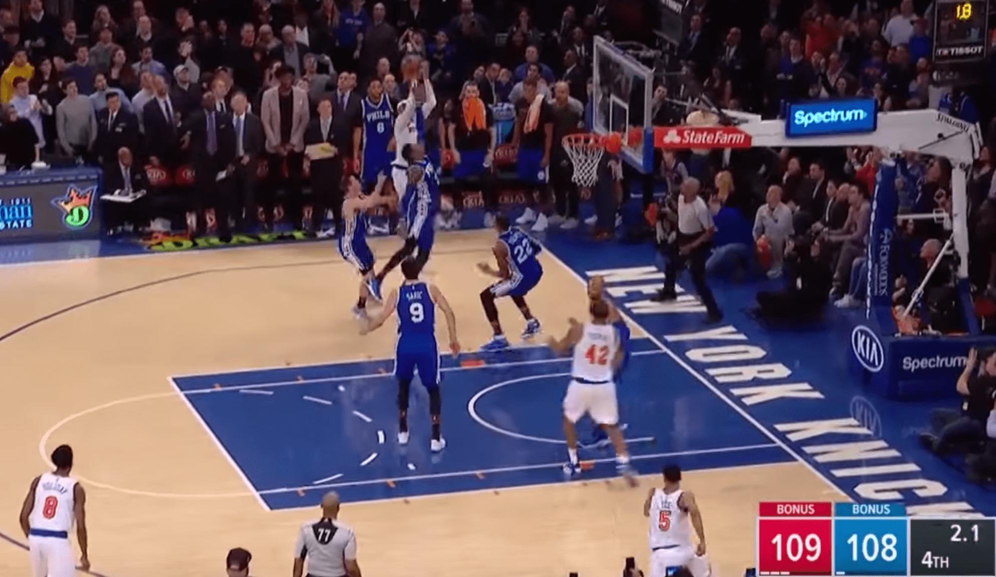 Carmelo Anthony envoie le Game Winner contre les Sixers