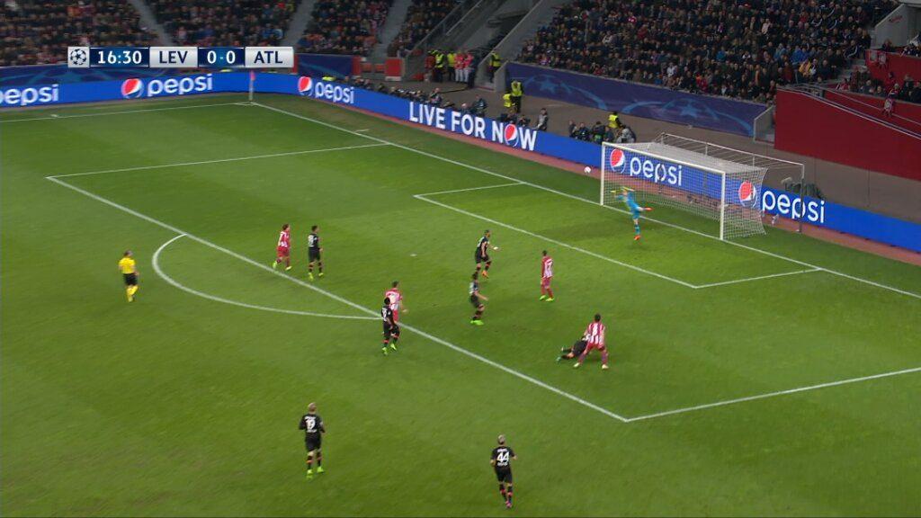 Leverkusen vs. Atletico - Saul Niguez ouvre le score pour l'Atletico sur un bijou