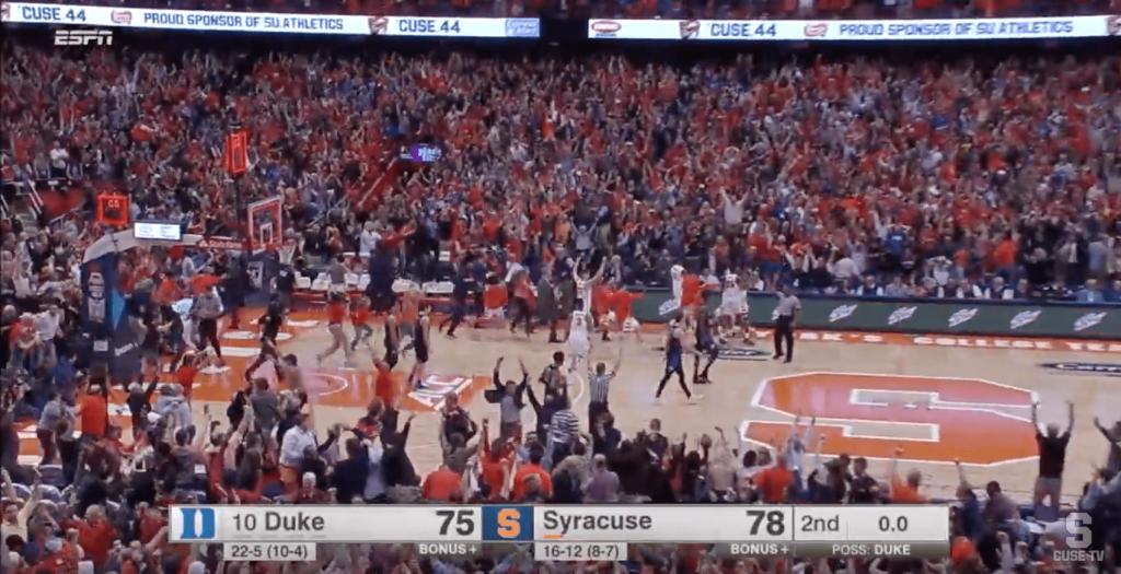 Syracuse s'offre Duke au buzzer sur une bombe à 3-points