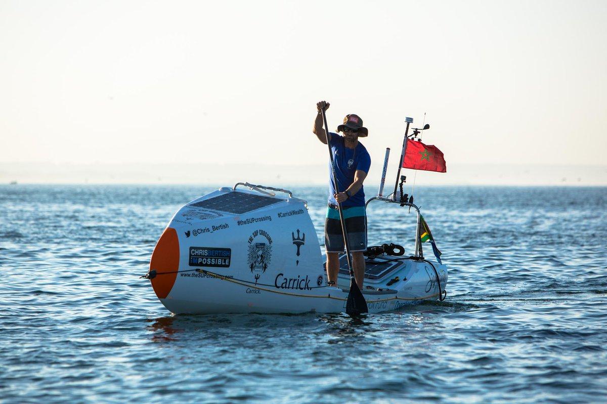 Chris Bertish traverse l'Océan Atlantique en stand up paddle