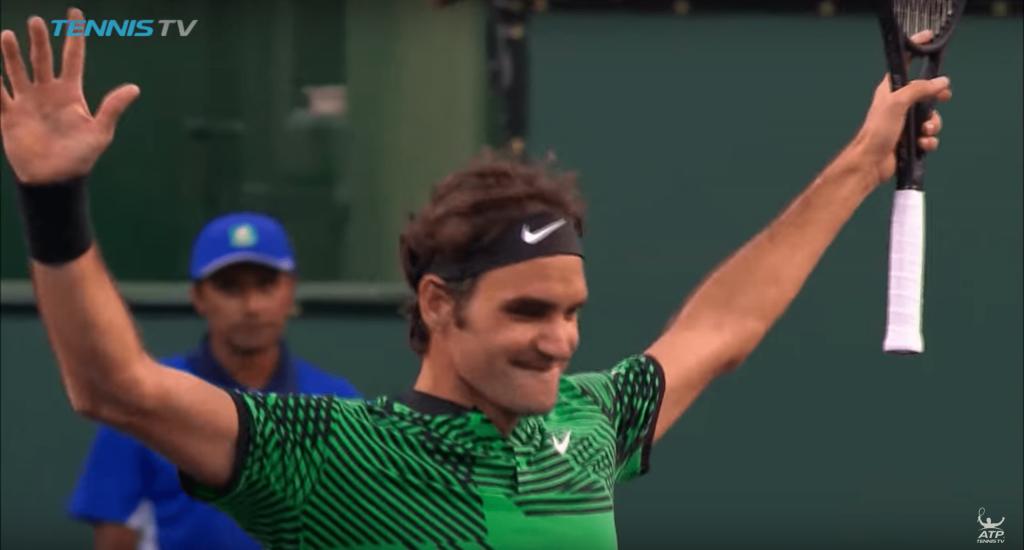 Indian Wells 2017 - Roger Federer donne à la leçon à Rafael Nadal