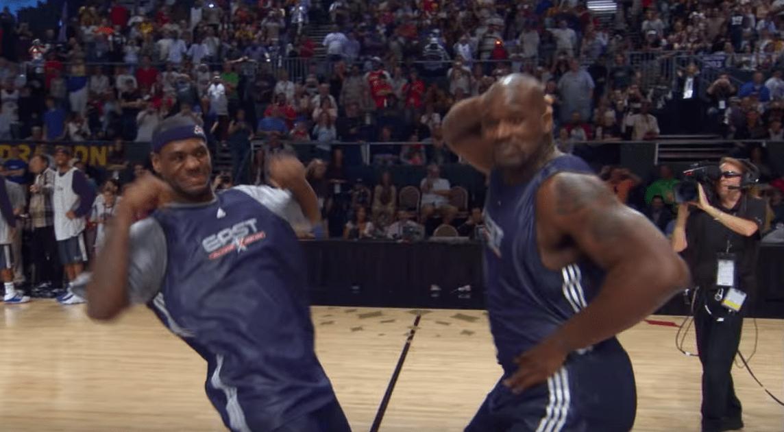 Quand LeBron James et Shaquille O'Neal se faisaient une battle pendant le All-Star Weekend
