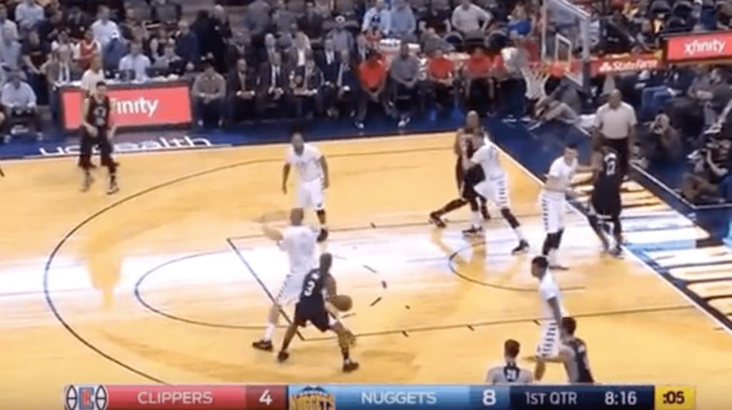 Nuggets vs. Clippers - Chris Paul a bu Mason Plumlee