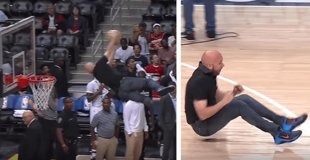 Un fan des Hawks enchaîne reverse-jam et une célébration dantesque
