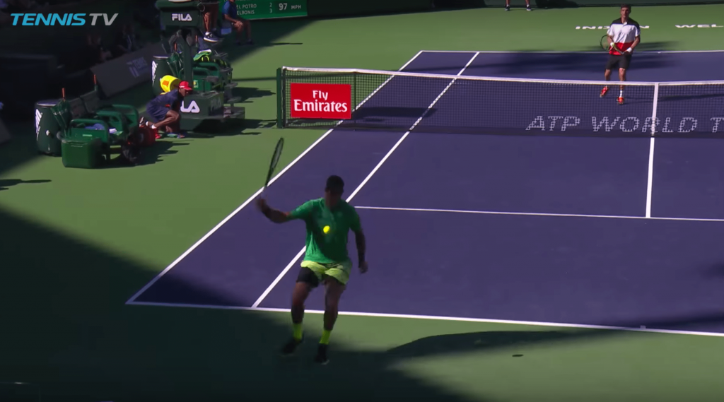 Le tweener+lob de Del Potro aura bien été le point d'Indian Wells