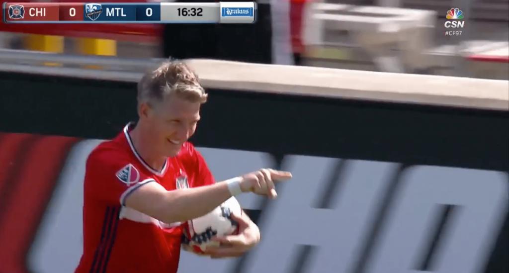 Bastian Schweinsteiger marque pour ses grands débuts avec Chicago