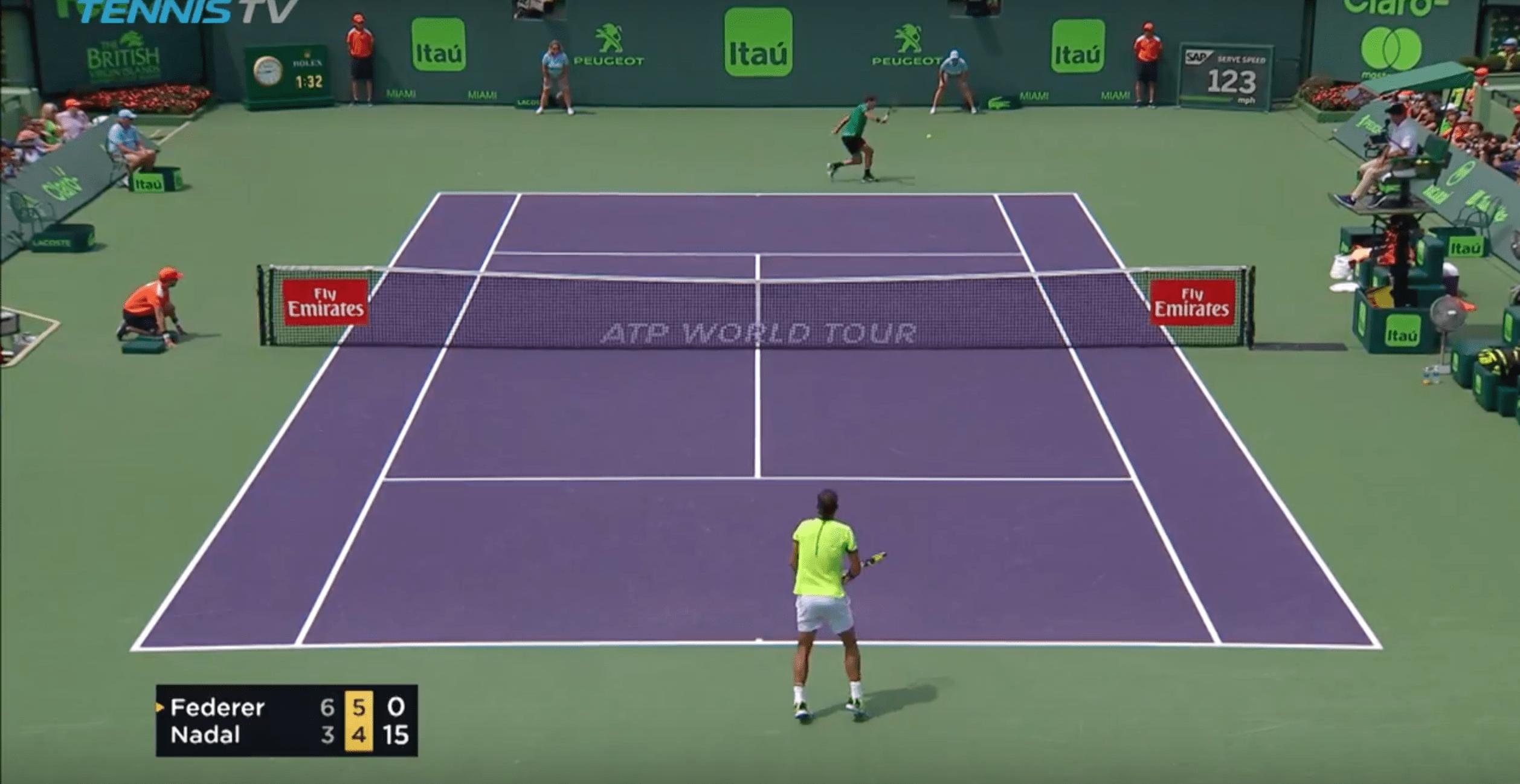 Le superbe revers de Federer qui a dégoûté Rafael Nadal