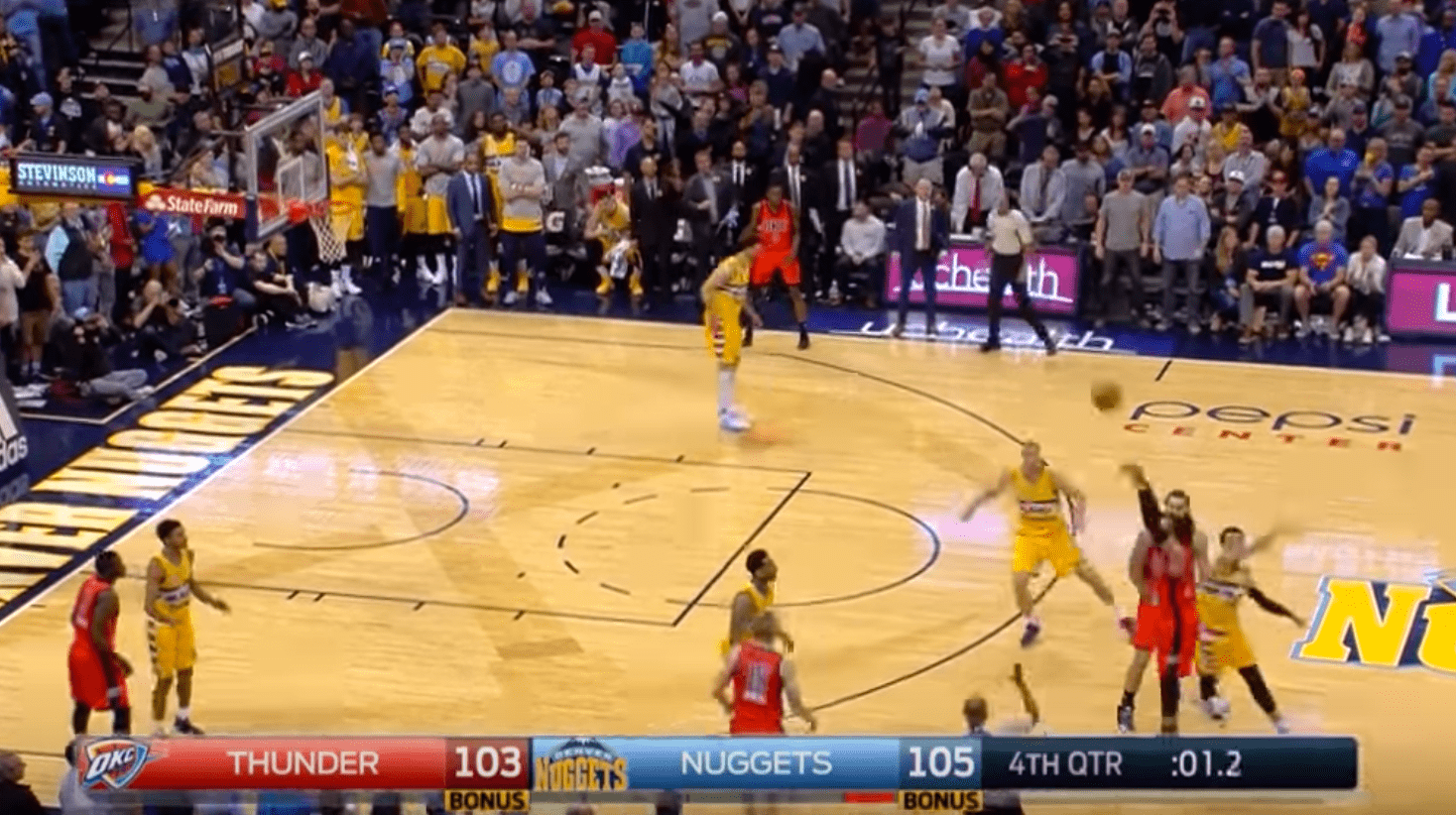 L'énorme Game Winner au buzzer de Russell Westbrook contre les Nuggets