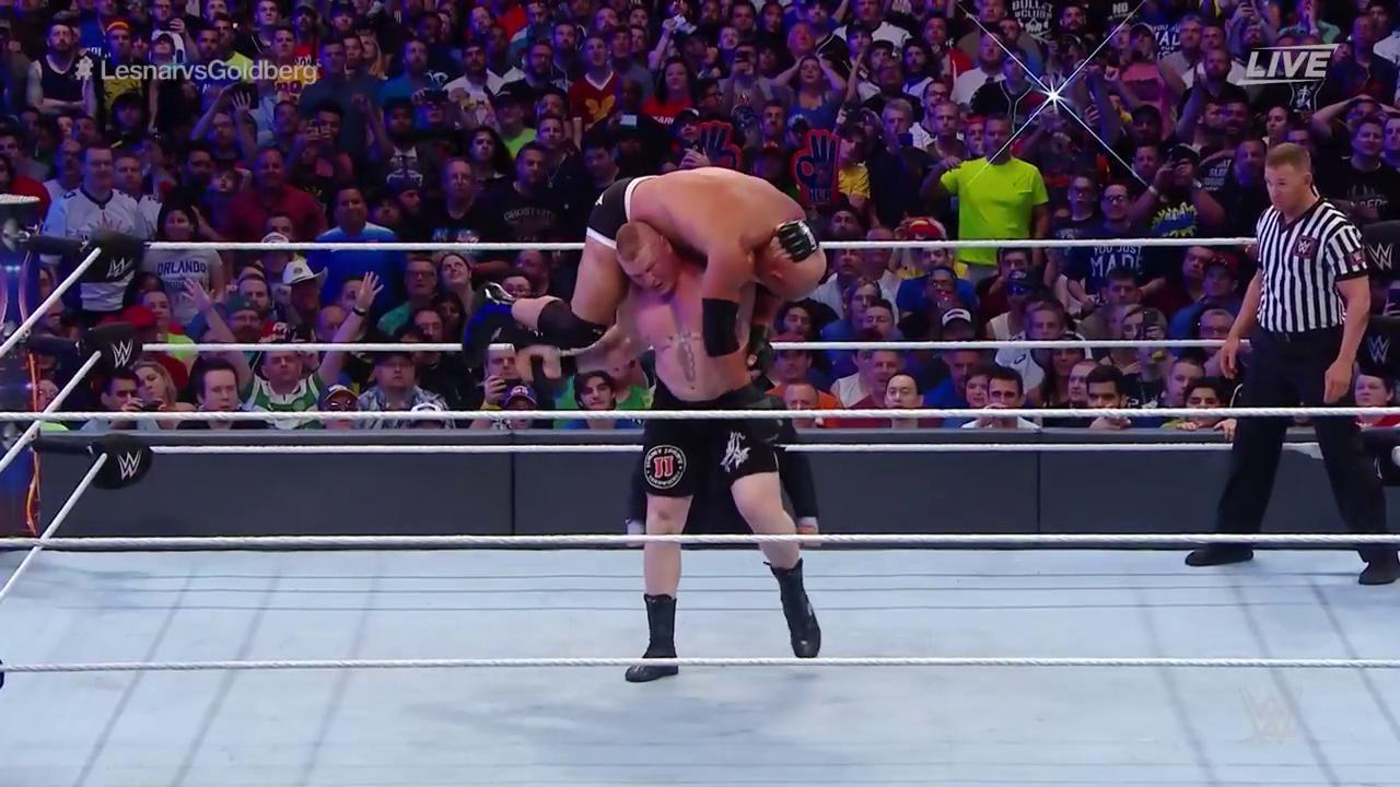 Brock Lesnar dégomme Goldberg à WrestleMania 33