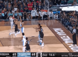 Gonzaga vs. North Carolina - Le contre Kennedy Meeks