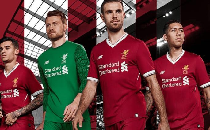 Liverpool présente son maillot pour la saison 2017/2018