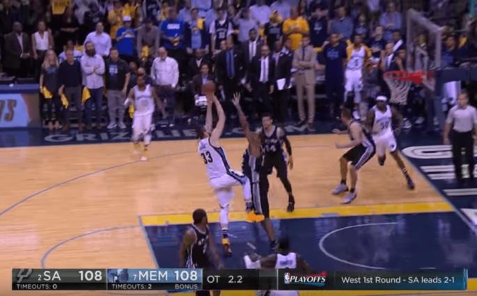 Marc Gasol claque le Game-Winner contre les Spurs