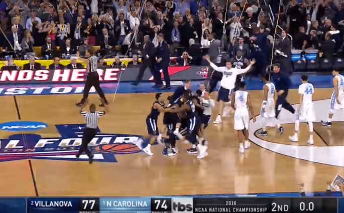 Quand Villanova remportait le titre NCAA au buzzer contre North Carolina