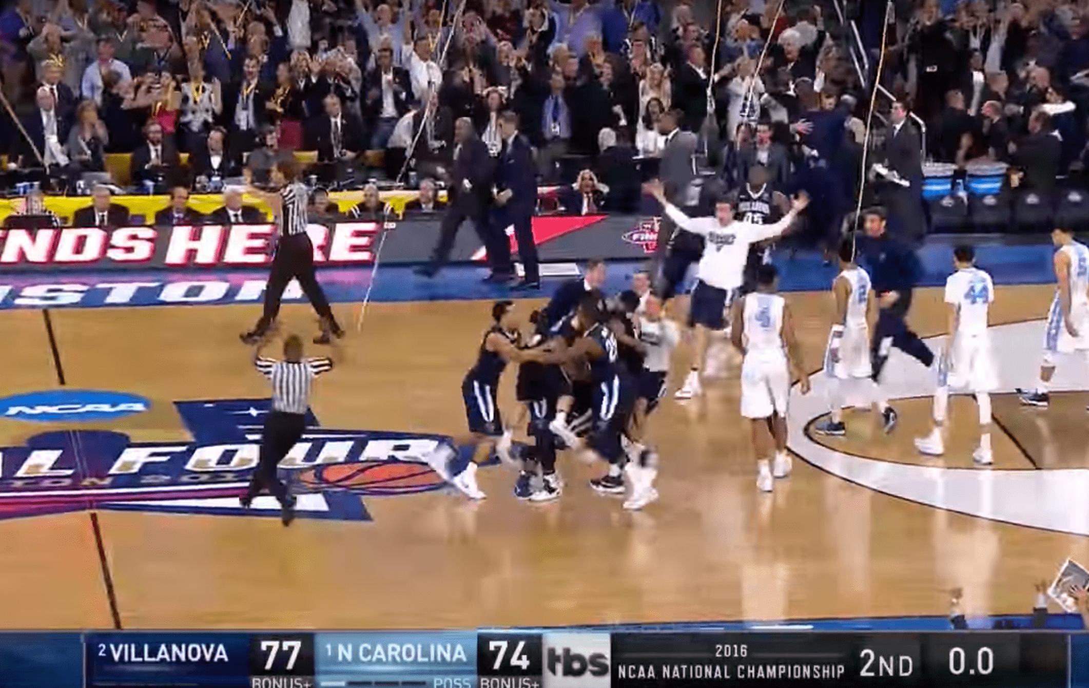 Quand Villanova remportait le titre NCAA au buzzer contre North Carolina