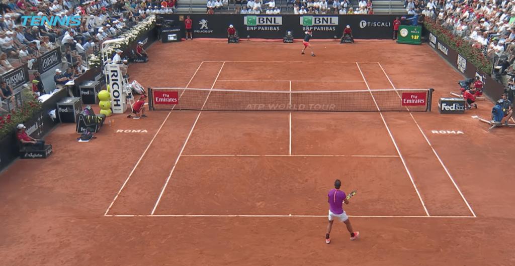Dominic Thiem a envoyé des parpaings de l'espace contre Rafael Nadal