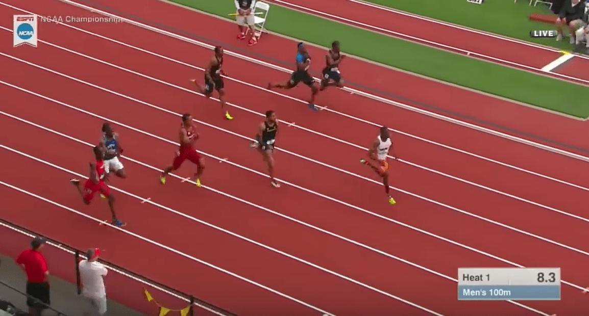 Christian Coleman claque la MPM sur 100m en Demi-Finale NCAA!