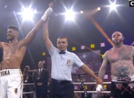 Tony Yoka l'emporte par KO au deuxième round contre Travis Clark