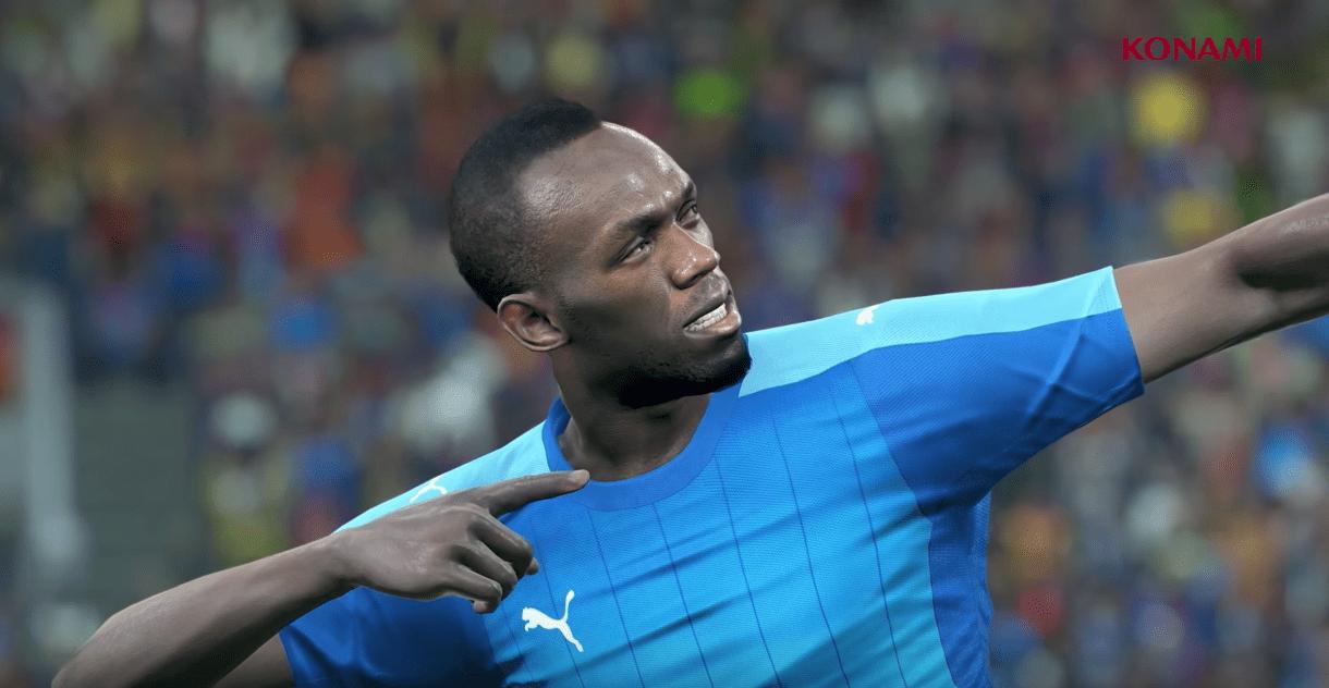 Usain Bolt débarque dans le trailer de PES 2018